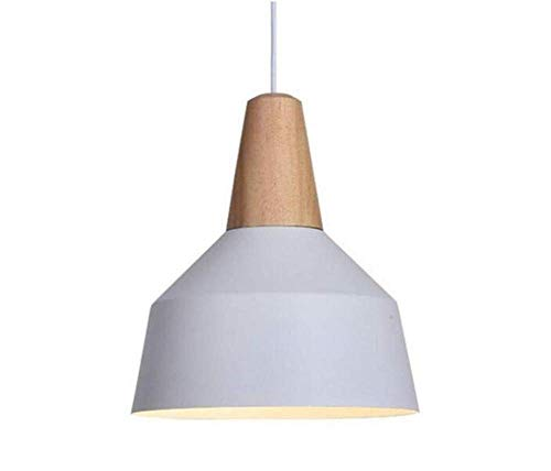 (Night Light Wall Lamp Led Lamp Modern Contemporary Industrial Pendant Lamp Hanging Chandelier Shade Light E26/E27 Base Painted Finish Solid Wood Series Single Head for Kitchen Bedroom Living Room, Q)