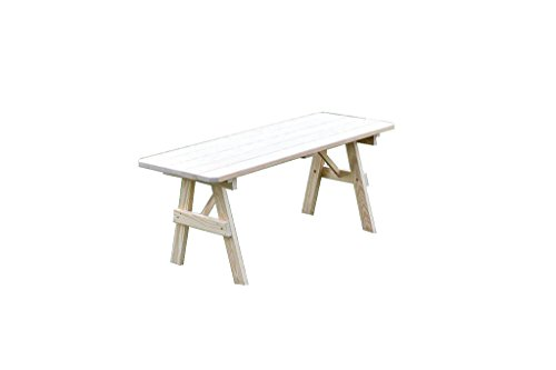 Furniture Barn USA Pressure Treated Pine Unfinished 4 Foot Picnic Table ONLY - Pressure Table Treated Picnic