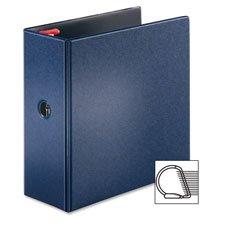 "Locking D-Ring Binder, 4"" Cap, 11""x8-1/2"", Dark Blue, Sold"