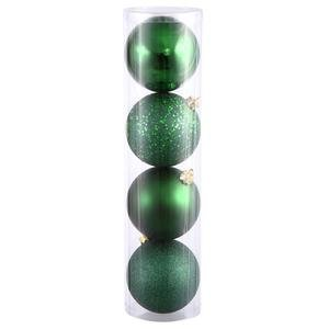 Vickerman 4-Piece Assorted Finish Ball, 4.75-Inch, Emerald, 4 Per Box