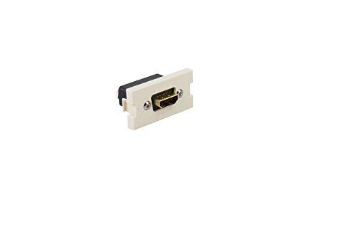 Leviton 41290-HDI 1 Unit High Multimedia Outlet System HDMI Feedthrough, Ivory