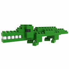 - LOZ Diamond Blocks Animals Gift Series Nano Block 40 Piece Building Set - Crocodile Alligator