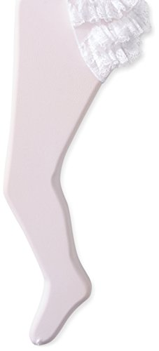 Jefferies Socks Baby-Girls Newborn Microfiber Rhumba Tights, White, 6-18 (Microfiber Kids Socks)