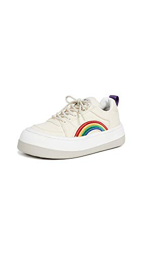 Eytys Women's Sonic Canvas Sneakers, Ecru, Off White, Graphic, 36 M EU