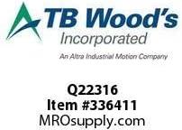 TBWOODS Q22316 Q2X2 3//16 ST BUSHING, Pack of 4