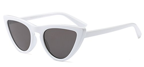 My Shades(TM) - Cateye or High Pointed Sunglasses Celebrity Chic Vintage Inspired Fashion (White, - Glasses Womens 60s