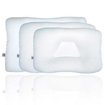 Tri-Core Orthopedic #220 - 3 Pack Wholesale Package - Standard Size Support Pillow - Gentle Support