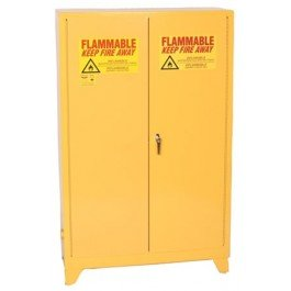 (Eagle 4510LEGS Tower Safety Cabinet for Flammable Liquids, 2 Door Self Close, 45 gallon, 69