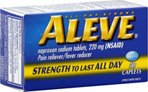 Aleve Pain Reliever/Fever Reducer Caplets, 50 ea (Pack of 3)
