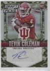 Tevin Coleman #/199 (Football Card) 2015 Panini Prizm Collegiate Draft Picks - [Base] - Camo Prizms Autographs [Autographed] #145