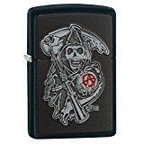 (Zippo Sons of Anarchy Emblem Black Matte Pocket Lighter)