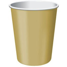 Gold Paper Cups | 9oz. | Pack of 20 | Party Supply