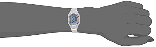 Armitron Sport Women's 45/7034PBL Rose Gold-Tone Accented Digital Chronograph Powder Blue Resin Strap Watch by Armitron Sport (Image #1)