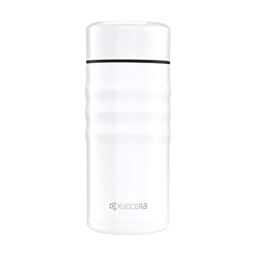- Kyocera MB-12S WH Travel Mug with Twist Top, 12oz, Pearl White