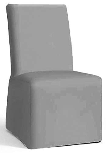 The Cotton Chair Cover Only Fits Pottery Barn PB Comfort Dining Chair. A Durable Slipcover Replacement (Armless Light Gray) (Pottery Barn Pb)