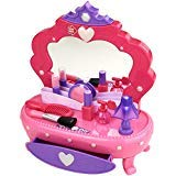 Kid connection Pretend to Play Kids Vanity Set with Mirror and Accessories