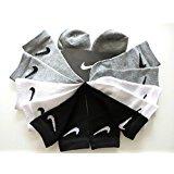 Nike Boys Crew Socks, 13C- 3Y/ 6-7, Vintage Heather 6 Pairs/Pack