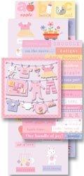 K & Company Sticker Embellishment Flip Pack - Baby (Girl Die Cut)