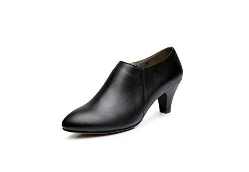 Mujer Zapatos Alto Para Tacón Hoesczs De Black XwFxqHxfn