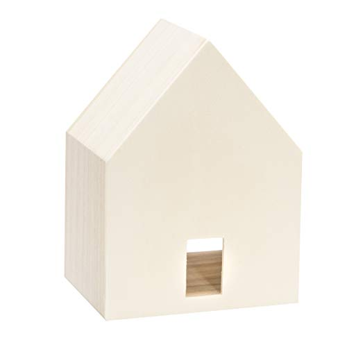 Darice 30041907 Unfinished Wood 5.25 x 7 inches Bird House, Natural ()