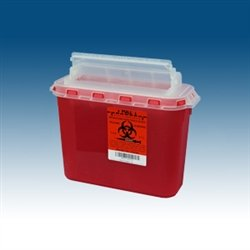 Sharps Container, 5.4 Qt for use BD Wall Cabinets, case/20 by PPI