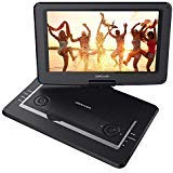 "DBPOWER 14"" Portable DVD Player with Swivel Screen, 2 Hours Rechargeable Battery, Supports"