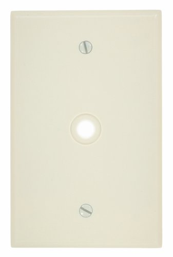Leviton 80513-T 1-Gang .312-Inch Hole Device Telephone/Cable Wallplate, Midway Size, Light Almond ()
