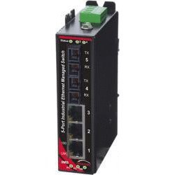 (Red Lion Controls/N-Tron SLX-5MS-5SC Managed Five Port Industrial Ethernet Switch, Sixnet SL5 p MNG 2SCsmf widetemp)
