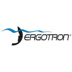 Ergotron - SV44-57E1-1 - Ergotron StyleView Telepresence - Cart for 2 LCD displays / keyboard / mouse / CPU / notebook / camera / scanner ( open architecture ) - medical - plastic, aluminum, zinc-plated steel - gray, white, polished aluminum - screen (Ergotron Styleview Notebook Cart)
