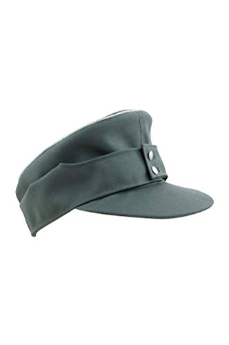013af7d7 WW2 German M43 Officer Gabardine field cap field grey-M for sale Delivered  anywhere in