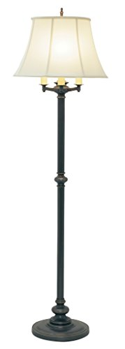 Collection Bronze Floor Lamp - House Of Troy N603-OB Newport Collection Portable 66-Inch Six-Way Floor Lamp, Oil Rubbed Bronze with White Softback Shade