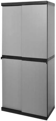 Ideapiu - Armario escobero para Exterior, 2 Puertas correderas y 4 estantes, 68 x 40, 5 x 168 cm: Amazon.es: Jardín