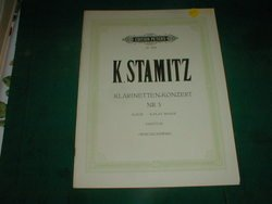 K. Stamitz. Klarinetten-Konzert Nr.3 Bb Major, Score. Wojciechowski.