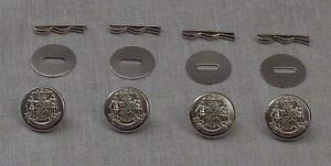 4 Maryland State Seal Silver Uniform Buttons Small Pins/Washers MD Police by HighQ Store