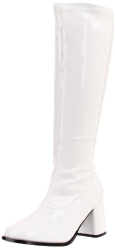 Funtasma Women's Gogo-300X Knee-High Boot,White Stretch Patent,9 C/D US
