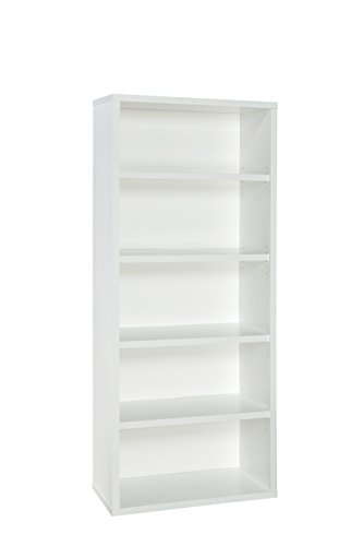 ClosetMaid 13504 Decorative 5-Shelf Premium Bookcase, White