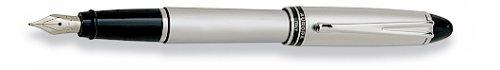 Aurora Ipsilon Metal All Chrome Cap and Barrel Satin Finish Extra Fine Point Fountain Pen - AU-B16-EF (Metal Satin Chrome Barrel)