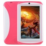 MAUBHYA Kids Education Tablet PC, 7.0 inch, 512MB+4GB, Android 4.4 Allwinner A33 Quad Core, WiFi/Bluetooth, with Holder Silicone Case(Magenta)