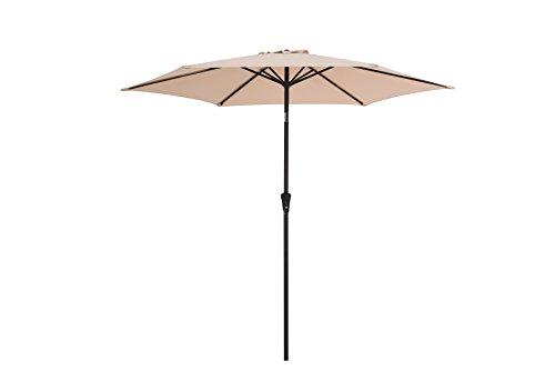 Sunjoy 9' Prescott Umbrella Made of Steel & Fabric