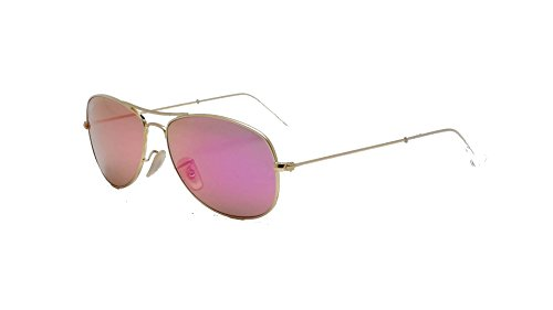 Ban Cockpit Mirror cyclamen Items Sunglasses 2 Gold Ray Aviator Bundle Matte Rb3362 6Ewfq1d
