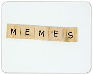 Memes scrabble letras de madera alfombrillas de ratones Cojín: Amazon.es: Electrónica