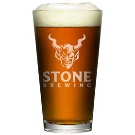 Stone Brewery Satin White Signature Pint | Set of 2 Pint Glasses