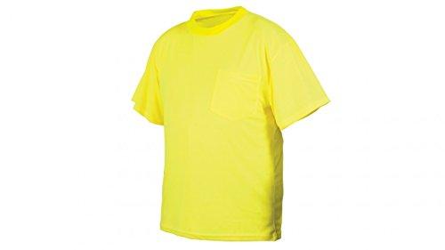 Pyramex RTS2110NSL Lumen X T-shirt, Large, Hi-Vis Lime by Pyramex Safety