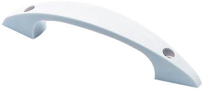 Bulk Hardware BH01767 125 mm D-Typ Plastikgriff fü r Frontmontage, Weiß , 4 Stü ck Bulk Hardware Limited
