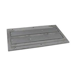 Industrial Grade 10E728 Plate Magnet, 14-1/2 x 6-1/2, Ceramic, Alum