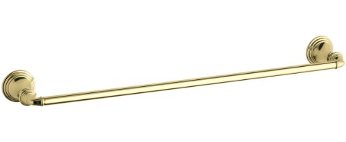 KOHLER K-10551-PB Devonshire 24-Inch Towel Bar, Vibrant Polished Brass (Vibrant Polished Brass Finish)
