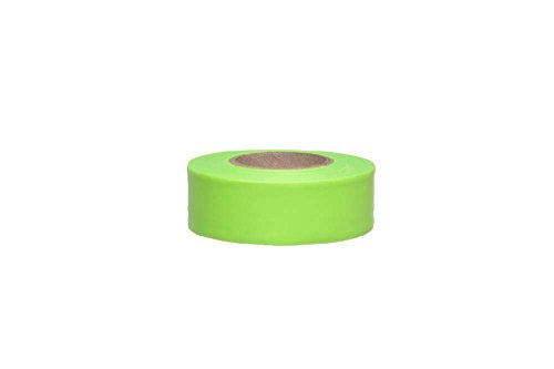 Yellow Flagging Tape - FT24 National Marker Tape, Flagging, Fluorescent Yellow, 1.18 x 150