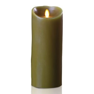 9'' Sage Green Luminara Flickering Flameless LED Lighted Forest Scented Pillar Candle by GKI Bethlehem Lighting (Image #1)