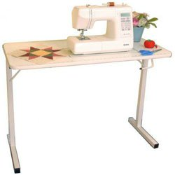 Arrow 601 Gidget I Sew-Much-More Folding Sewing, Cutting, Quilting, and Craft Table, Portable with Wheels and Lift, White Finish by Arrow Sewing Cabinets