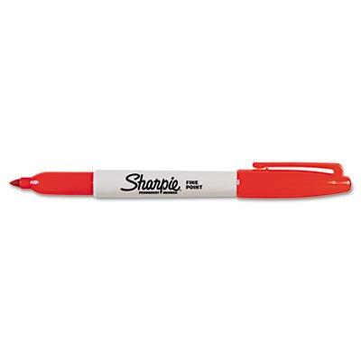 Sanford Sharpie Fine Point Permanent Red Ink Marker (30052), Sold ()